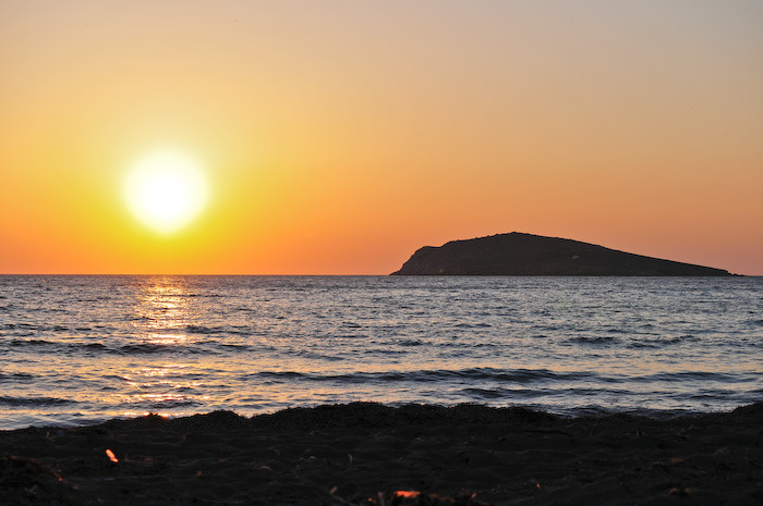 Sunset at Kantouni beach