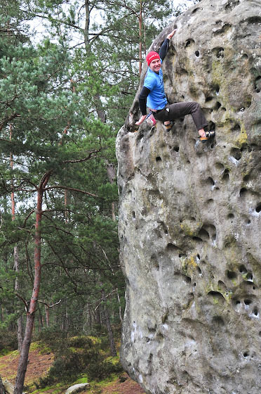 Johannes in flames on easy highball, Elephant