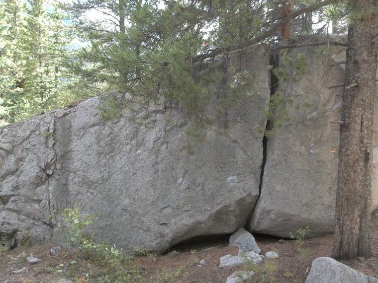 Roadside boulder