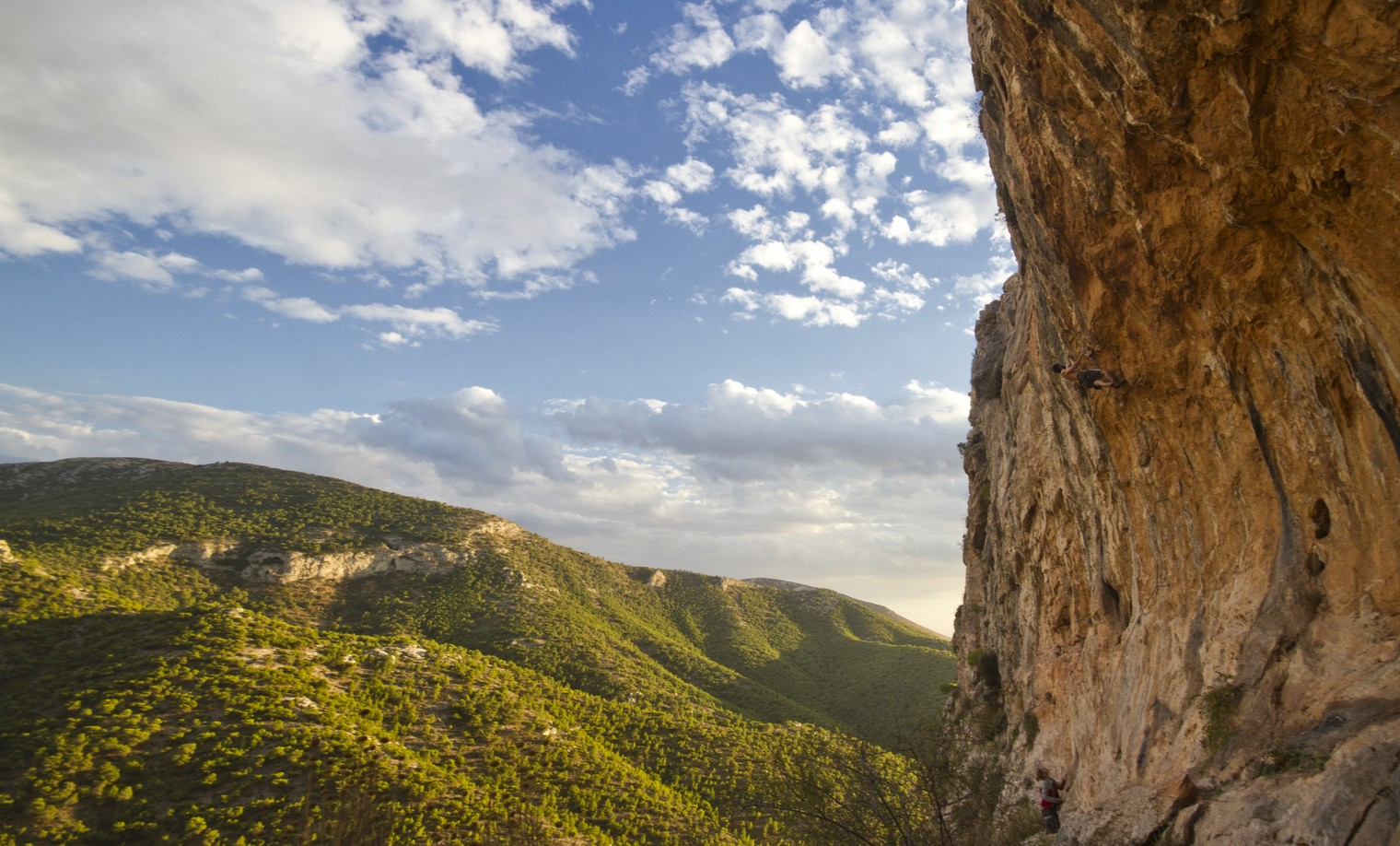 Climbing in Lelaki, Athens, Greece