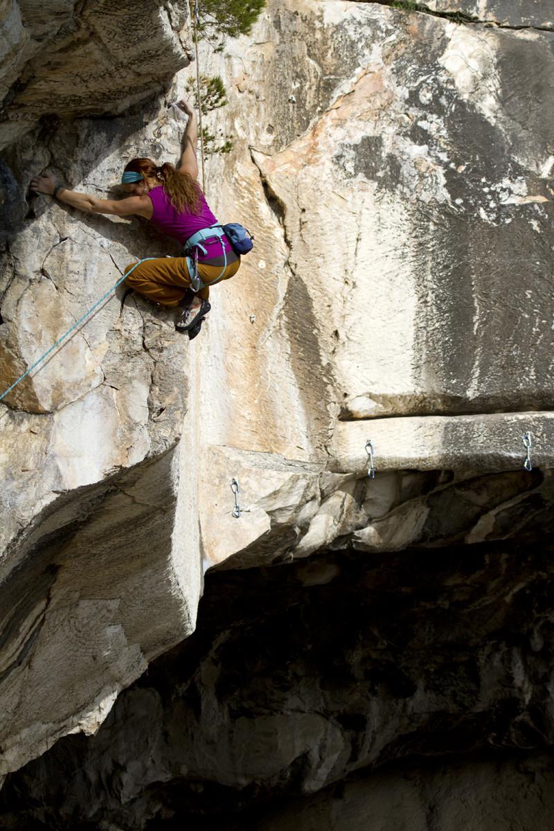 Climbing in Spilia Daveli, Athens, Greece