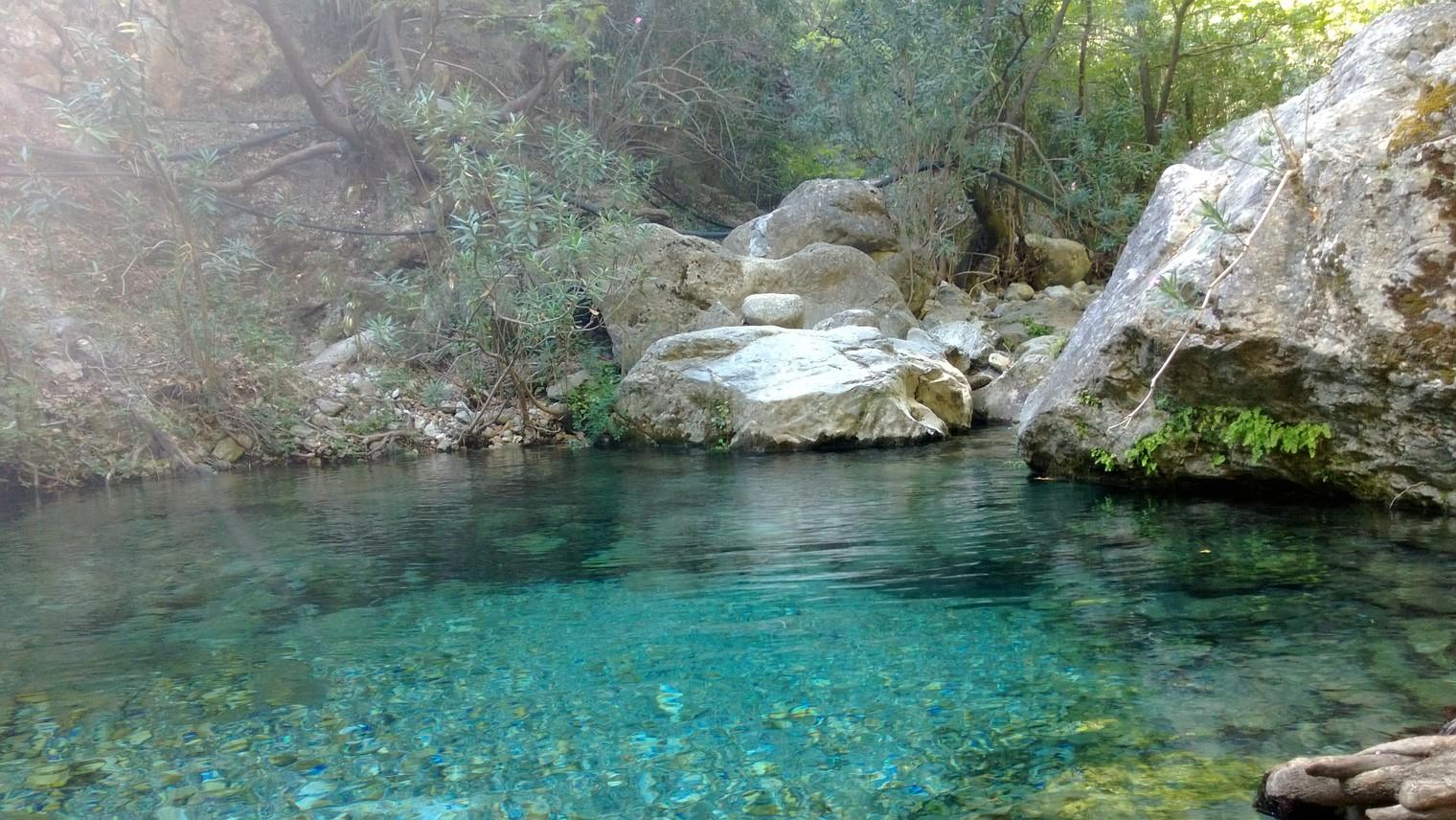Waterfalls of Lagada Climbing park, Greece