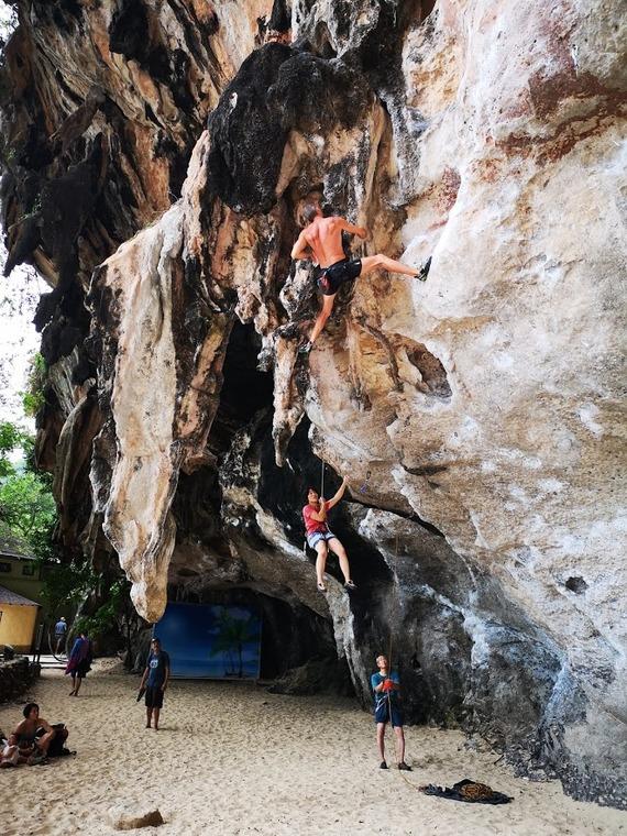 Phranang beach wall