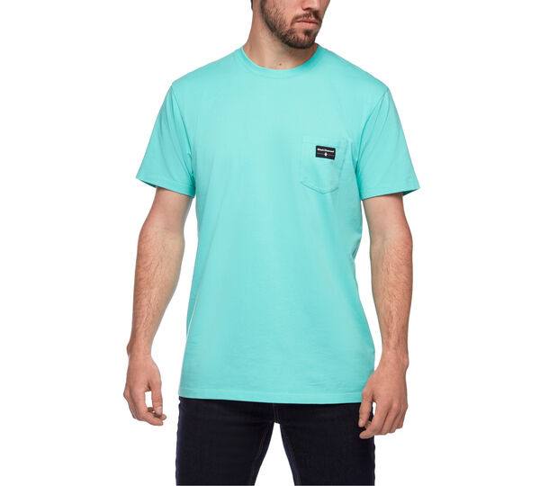 Pocket label Tee, Black Diamond